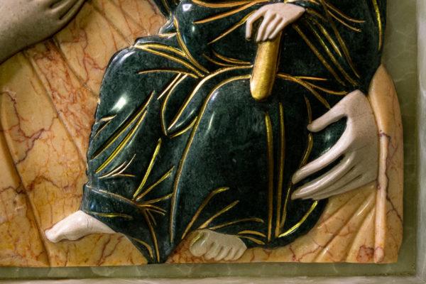 Икона Иверской Божией Матери (рельефная, храмовая) без № из мрамора, камня, от Гливи, фото 13