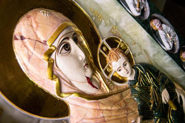 Икона Иверской Божией Матери (рельефная, храмовая) без № из мрамора, камня, от Гливи, фото 14
