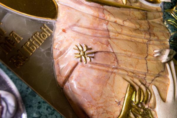 Икона Иверской Божией Матери (рельефная, храмовая) без № из мрамора, камня, от Гливи, фото 15