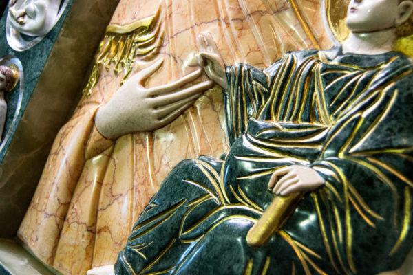 Икона Иверской Божией Матери (рельефная, храмовая) без № из мрамора, камня, от Гливи, фото 16