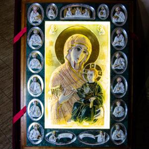 Икона Иверской Божией Матери (рельефная, храмовая) без № из мрамора, камня, от Гливи, фото 17