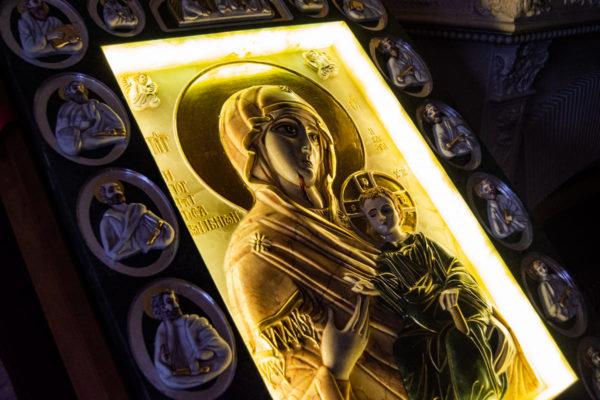 Икона Иверской Божией Матери (рельефная, храмовая) без № из мрамора, камня, от Гливи, фото 18