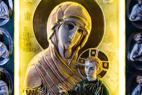 Икона Иверской Божией Матери (рельефная, храмовая) без № из мрамора, камня, от Гливи, фото 20