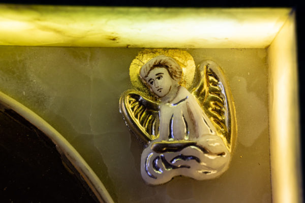 Икона Иверской Божией Матери (рельефная, храмовая) без № из мрамора, камня, от Гливи, фото 22