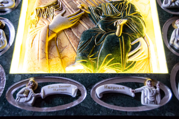 Икона Иверской Божией Матери (рельефная, храмовая) без № из мрамора, камня, от Гливи, фото 25