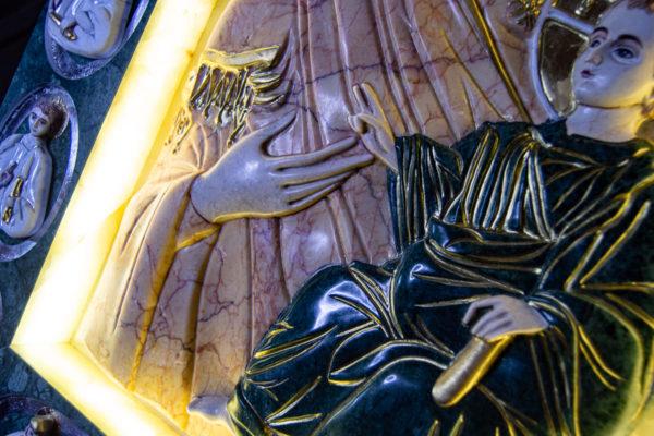 Икона Иверской Божией Матери (рельефная, храмовая) без № из мрамора, камня, от Гливи, фото 29