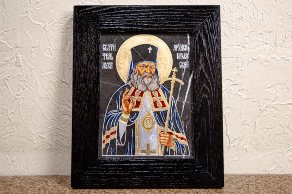 Икона Луки Крымского № 01 из мрамора, камня, от Гливи, фото 1