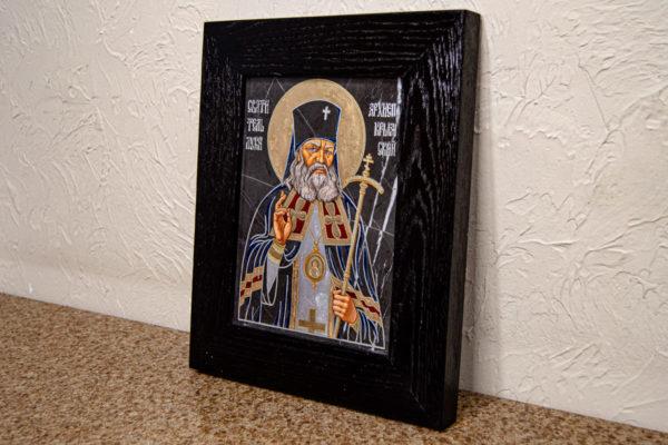 Икона Луки Крымского № 01 из мрамора, камня, от Гливи, фото 6