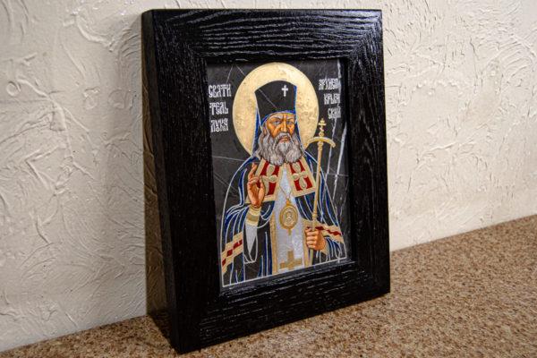 Икона Луки Крымского № 01 из мрамора, камня, от Гливи, фото 2