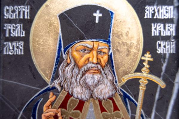 Икона Луки Крымского № 01 из мрамора, камня, от Гливи, фото 3