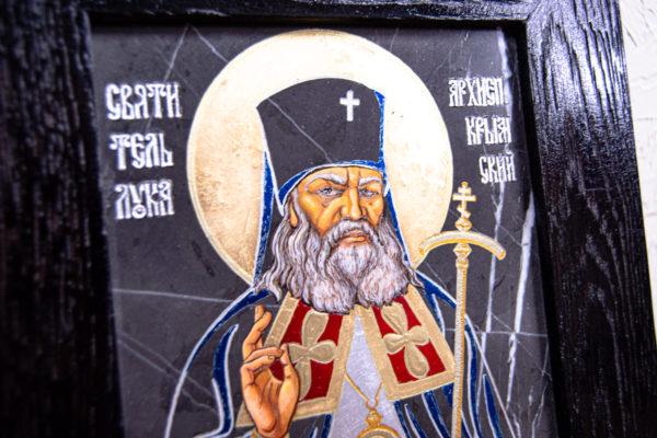 Икона Луки Крымского № 01 из мрамора, камня, от Гливи, фото 4