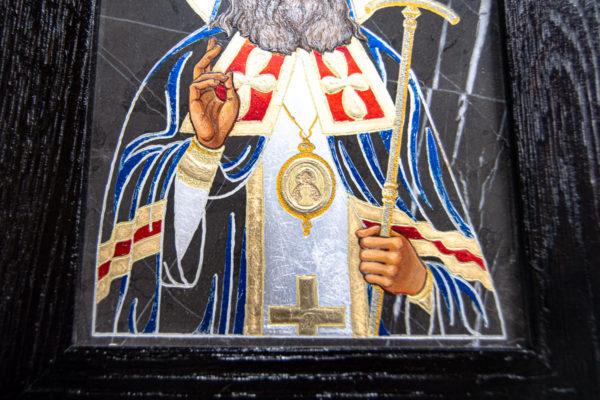 Икона Луки Крымского № 01 из мрамора, камня, от Гливи, фото 5