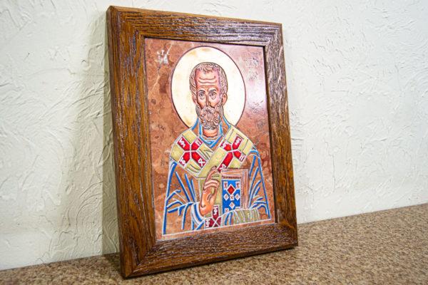 Икона Николая Чудотворца № 5-21 из мрамора, камня, от Гливи, фото 8