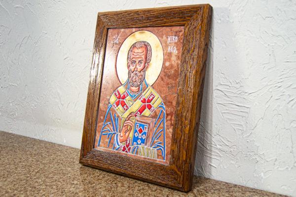 Икона Николая Чудотворца № 5-21 из мрамора, камня, от Гливи, фото 9