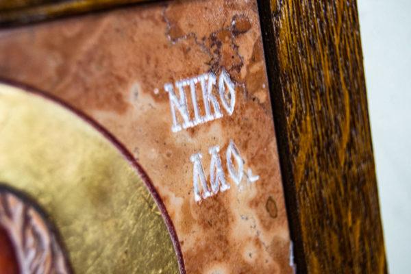 Икона Николая Чудотворца № 5-21 из мрамора, камня, от Гливи, фото 6