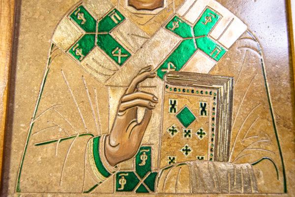 Икона Николая Чудотворца № 5-22 из мрамора, камня, от Гливи, фото 10