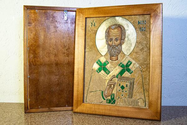 Икона Николая Чудотворца № 5-22 из мрамора, камня, от Гливи, фото 3