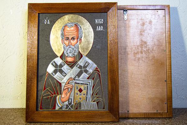 Икона Николая Чудотворца № 3-23 из мрамора, камня, от Гливи, фото 10