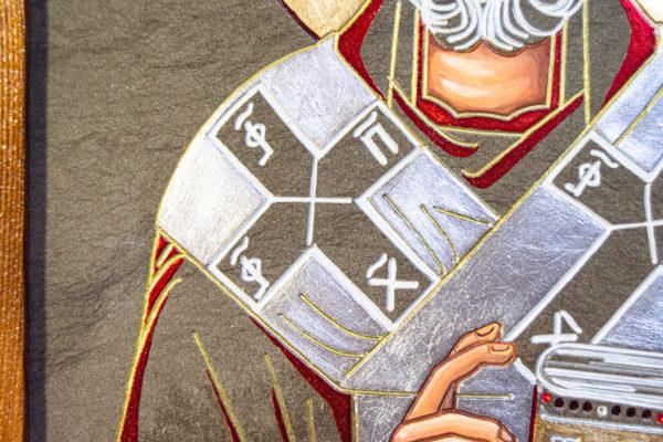 Икона Николая Чудотворца № 3-23 из мрамора, камня, от Гливи, фото 4