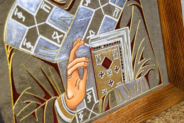 Икона Николая Чудотворца № 3-23 из мрамора, камня, от Гливи, фото 5