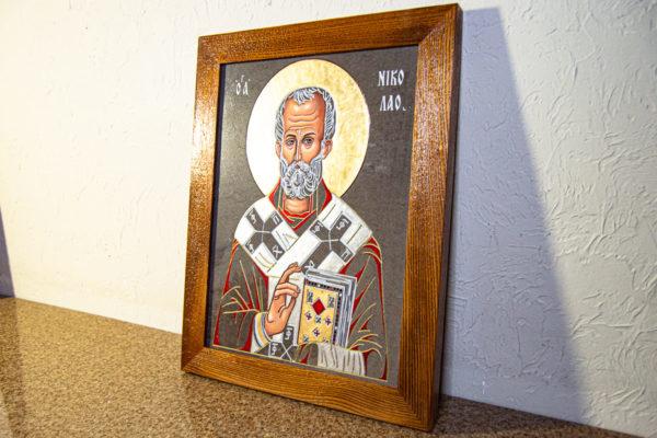 Икона Николая Чудотворца № 3-23 из мрамора, камня, от Гливи, фото 7
