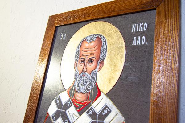 Икона Николая Чудотворца № 3-23 из мрамора, камня, от Гливи, фото 2