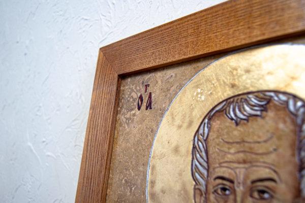 Икона Николая Чудотворца 3-25 из мрамора, камня, от Гливи, фото 5