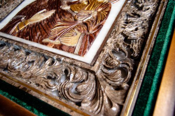 Икона Влахернская Богоматерь № 02 из мрамора, камня, от Гливи, фото 2