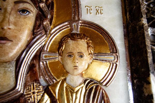 Икона Влахернская Богоматерь № 02 из мрамора, камня, от Гливи, фото 4