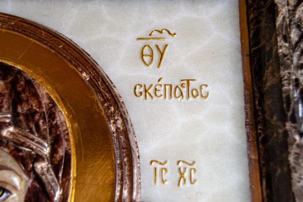 Икона Влахернская Богоматерь № 02 из мрамора, камня, от Гливи, фото 6