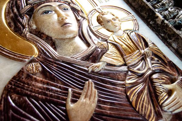 Икона Влахернская Богоматерь № 02 из мрамора, камня, от Гливи, фото 7
