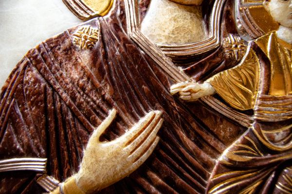 Икона Влахернская Богоматерь № 02 из мрамора, камня, от Гливи, фото 9