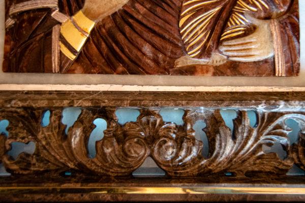 Икона Влахернская Богоматерь № 02 из мрамора, камня, от Гливи, фото 10