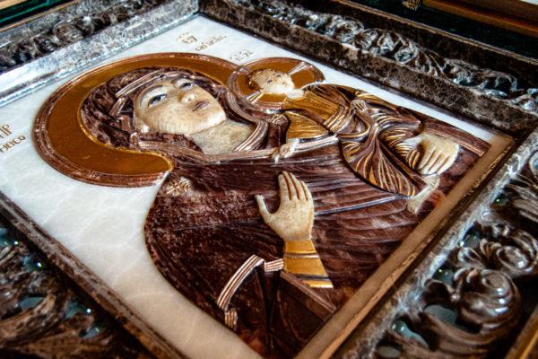Икона Влахернская Богоматерь № 02 из мрамора, камня, от Гливи, фото 11