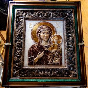 Икона Влахернская Богоматерь № 02 из мрамора, камня, от Гливи, фото 1