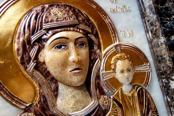 Икона Влахернская Богоматерь № 02 из мрамора, камня, от Гливи, фото 12