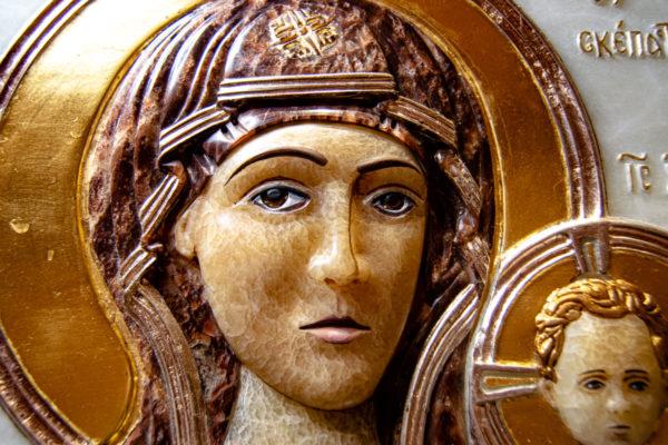 Икона Влахернская Богоматерь № 02 из мрамора, камня, от Гливи, фото 13
