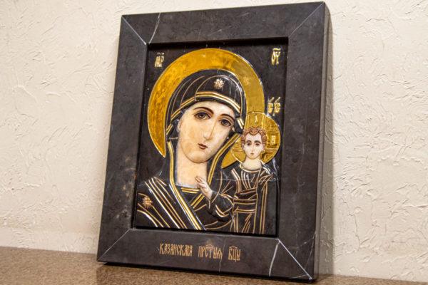 Икона Казанской Божией Матери № 3-12-4 из мрамора, камня, от Гливи, фото 2