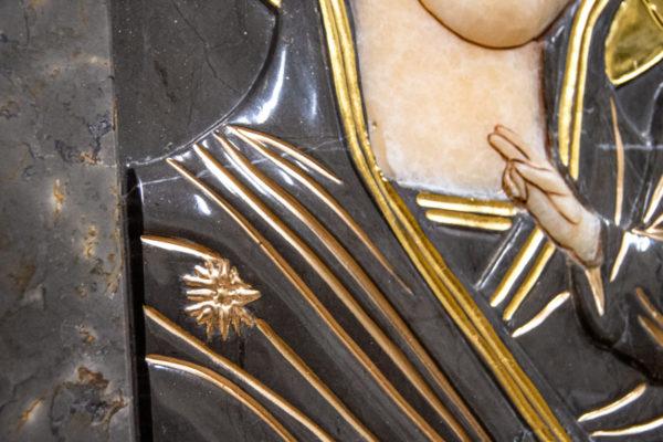 Икона Казанской Божией Матери № 3-12-4 из мрамора, камня, от Гливи, фото 6