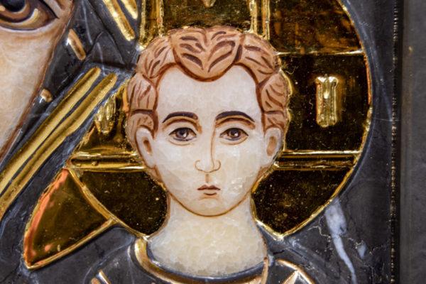 Икона Казанской Божией Матери № 3-12-4 из мрамора, камня, от Гливи, фото 8