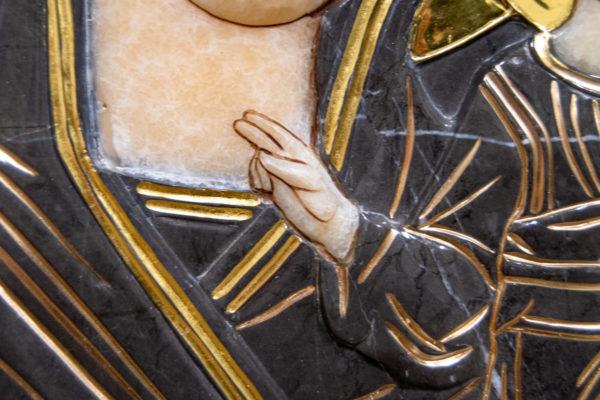 Икона Казанской Божией Матери № 3-12-4 из мрамора, камня, от Гливи, фото 9