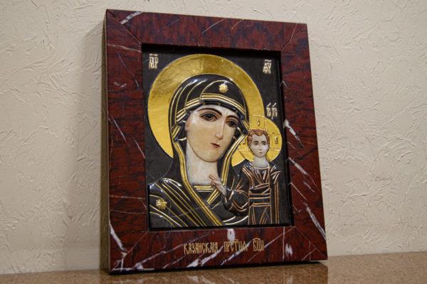 Икона Казанской Божией Матери № 3-12-3 из мрамора, камня, от Гливи, фото 11