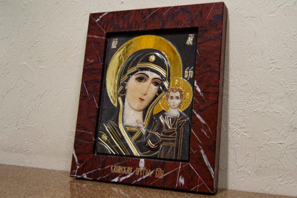 Икона Казанской Божией Матери № 3-12-3 из мрамора, камня, от Гливи, фото 12