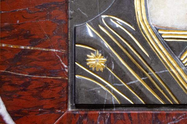 Икона Казанской Божией Матери № 3-12-3 из мрамора, камня, от Гливи, фото 4