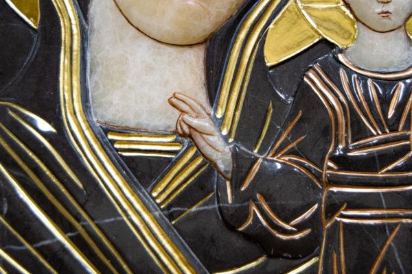 Икона Казанской Божией Матери № 3-12-3 из мрамора, камня, от Гливи, фото 5