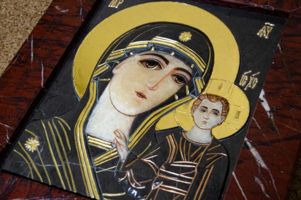 Икона Казанской Божией Матери № 3-12-3 из мрамора, камня, от Гливи, фото 10