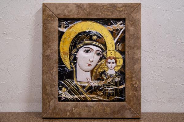 Икона Казанской Божией Матери № 3-12-6 из мрамора, камня, от Гливи, фото 1