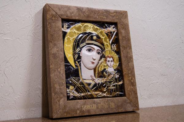 Икона Казанской Божией Матери № 3-12-6 из мрамора, камня, от Гливи, фото 2