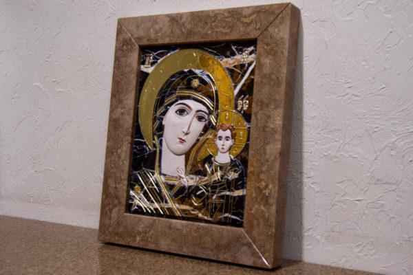 Икона Казанской Божией Матери № 3-12-6 из мрамора, камня, от Гливи, фото 3