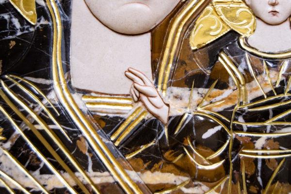 Икона Казанской Божией Матери № 3-12-6 из мрамора, камня, от Гливи, фото 5